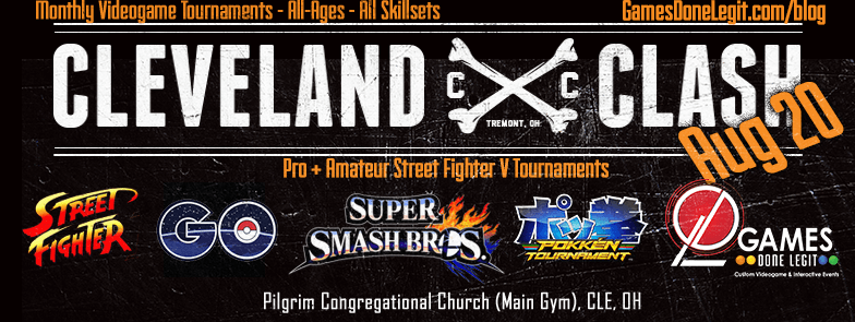 Cleveland Clash: Street Fighter x Smash x pGO – Aug. 20