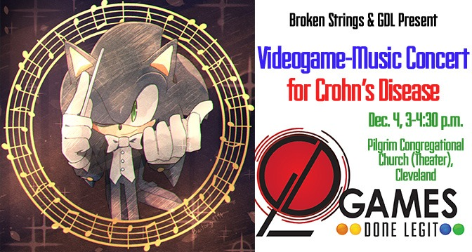 Broken Strings' Cleveland Videogame-Music Concert for Crohn's, Dec. 4