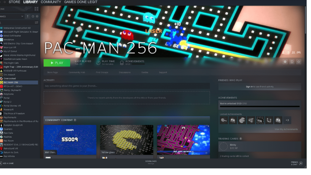 Pac-Man 256 Steam for Remote Play Virtual Events